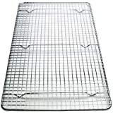 Great Credentials Cooling Rack Cross-wire Grid , Chrome Plated Steel, Commercial Quality, 10 x 18 inch. fits inside most standard full size pans