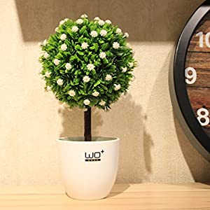 Home with small tree fortune tree straw ball emulation flower kit floral decor flower artificial flowers potted miniature landscapes 62