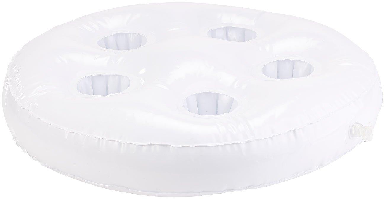 Schwimmender Getr/änkehalter infactory Pool Zubeh/ör: Aufblasbarer Schwimm-Getr/änkehalter 5 Halterungen /Ø jeweils 5,5 cm
