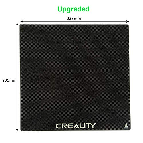 Creality Ender 3 Glass Bed, Upgraded 3D Printer Platform Tempered Glass Plate Build Surface, 235x235x4mm (The Best 3d Glasses)