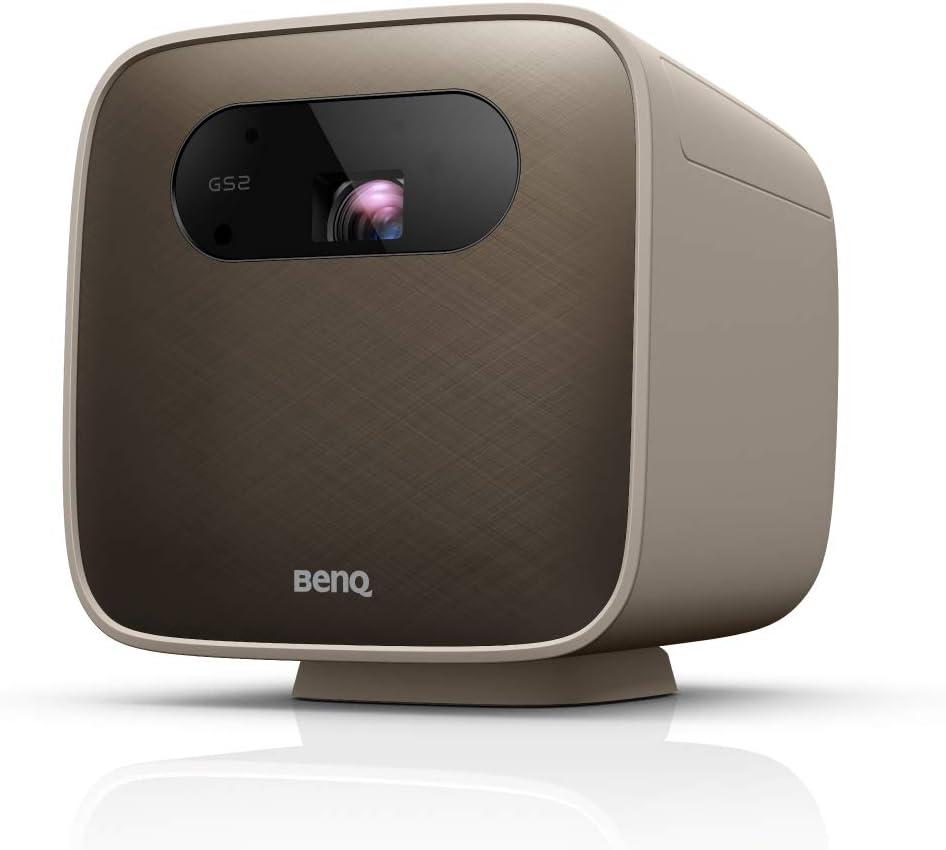 BenQ GS2 Wireless Mini Portable Projector for Outdoor Use | IPX2 Splash & Drop Resistant | Google Cast & AirPlay | Bluetooth Speaker | WiFi | Smart TV App | HDMI | USB-C