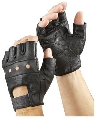 Raider Leather Fingerless Gloves, (Pack of 2)