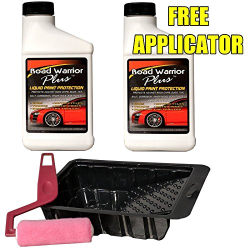 (Road Warrior Plus Paint Protection Film for Rock Chips & Bugs - 16oz kit - Free APPLICATOR)