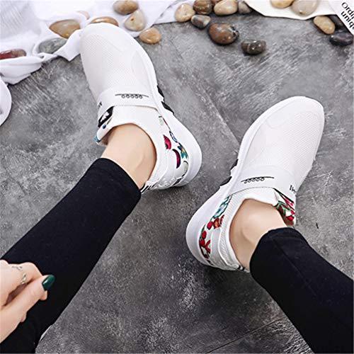 Bianco da Fannullone Bianca Ginnastica Donna in da Scarpe Esecuzione Scarpe Stampa Scarpe Passeggio Casual Scarpe 80qCHd