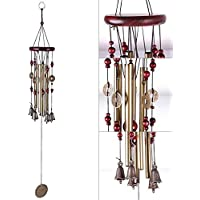 Niome Magic 4 Tubes 5 Bells Copper Yard Garden Outdoor Living Wind Chimes 65cm