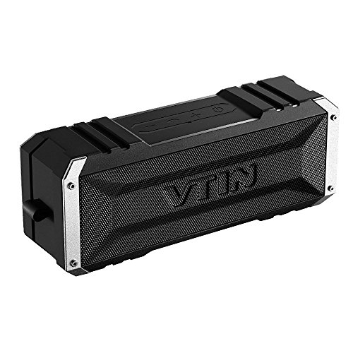 Amazon Lightning Deal 94% claimed: 20W Bluetooth Speaker, Vtin Waterproof Portable Wireless Speaker with 25 Hours Playtime, Enhanced Bass, Built in Microphone, AUX input - Black