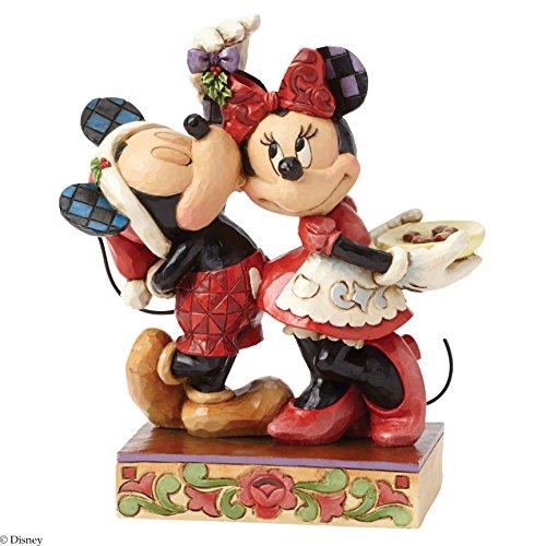 Figurine Mistletoe - Jim Shore for Enesco Disney Traditions by Mickey and Minnie Mistletoe Figurine