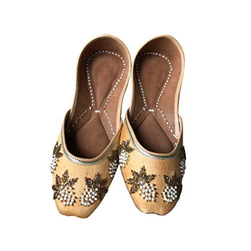 Indian Ethnic Jutti Pump Shoes Ballet Flats Embroidered Jutti Traditional Shoes Casual Flats for Women and Ladies (8) -