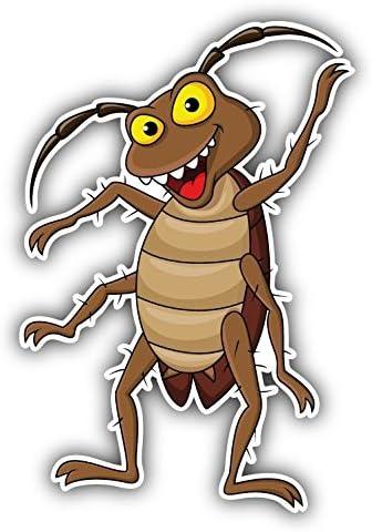 olyaprint Calcomanía de Vinilo de Dibujos Animados de cucaracha para Parachoques de 4 x 5 Pulgadas: Amazon.es: Juguetes y juegos