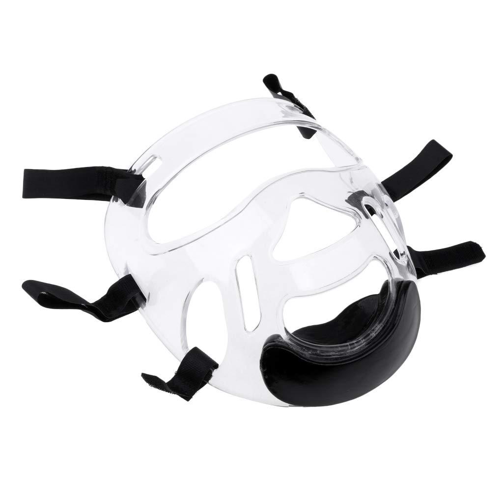 CUTICATE M/áscara Transparente Taekwondo Protector Facial Accesorio para Casco para Adultos Unisex