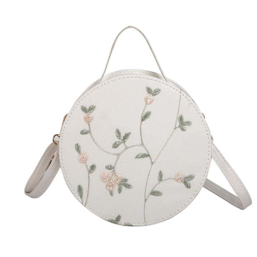 Womens Lace Handbag 2019 Fashion Crossbody Bag Solid Color Small Round Bags