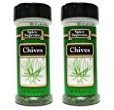 Spice Supreme Seasonings: Chives (Pack of 2) .25 oz Size