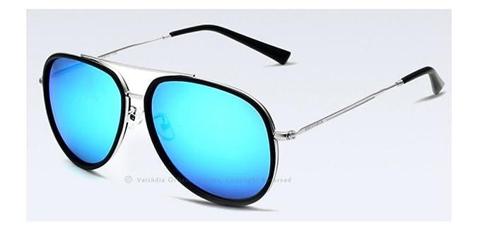 VEITHDIA Trusted marca de moda unisex de sol gafas polarizadas de revestimiento de color espejo retrovisor Gafas de sol de los hombres / mujeres - Modelo ...