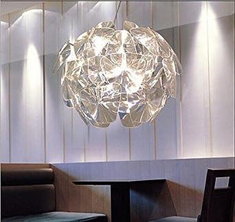 Lightess 40W Moderne Kronleuchter Höhenverstellbar Pendelleuchte Hängelampe  Aus Acryl 1pcs Halogenleuchte 700*700*1000mm