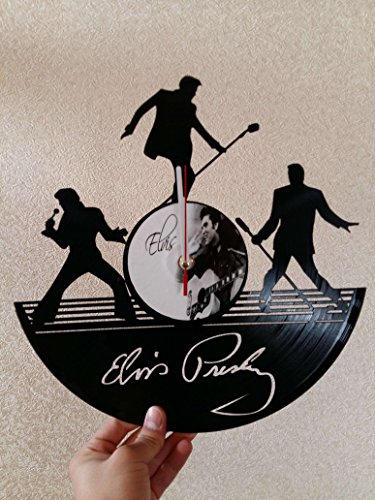 ELVIS PRESLEY Vinyl Record Wall Clock - Get unique Garage wall decor MUSIC Gift ideas for friends, teens – HARD ROCK MUSIC Unique Modern Art gift for boys gift for girls gift for dad prime gifts