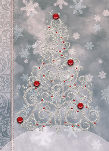 Performing Arts Handmade, Full Color Inside, Matching Envelope Tree Snowflakes Stationery Paper, 65092-12