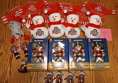 - Unik always Large lot of 20+ OSU Ohio State Buckeyes Football Christmas Ornaments