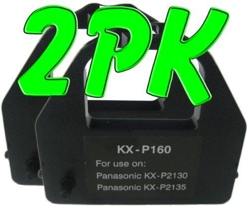 (2 PK Compatible Panasonic KX-P2130 / 2135 Black Printer Ribbons (KX-P160), Works for KX-P2130, KX-P2135)
