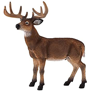 Mojo Fun 387038 White Tailed Deer Buck - Realistic Forest / Countryside Wildlife Toy Replica