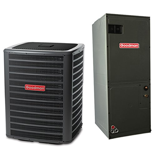 (Goodman 2 Ton 14 SEER Multi Speed Central Air Conditioner Split System - Multiposition)