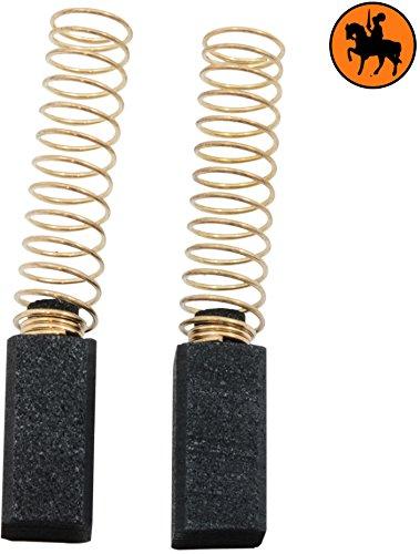 Carbon Brushes for BLACK & DECKER KR480RE drill -- 6.35x6.35x13mm -- 2.5x2.5x5.1'' Buildalot