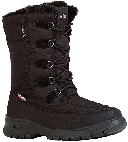 Kamik Women's Brooklynwide Snow Boot, Black, 6 W (Kamik Lined Snow Boots)