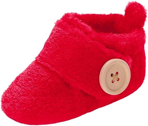 Amazon.com: Axinke - Zapatos para bebé con cierre de botón ...