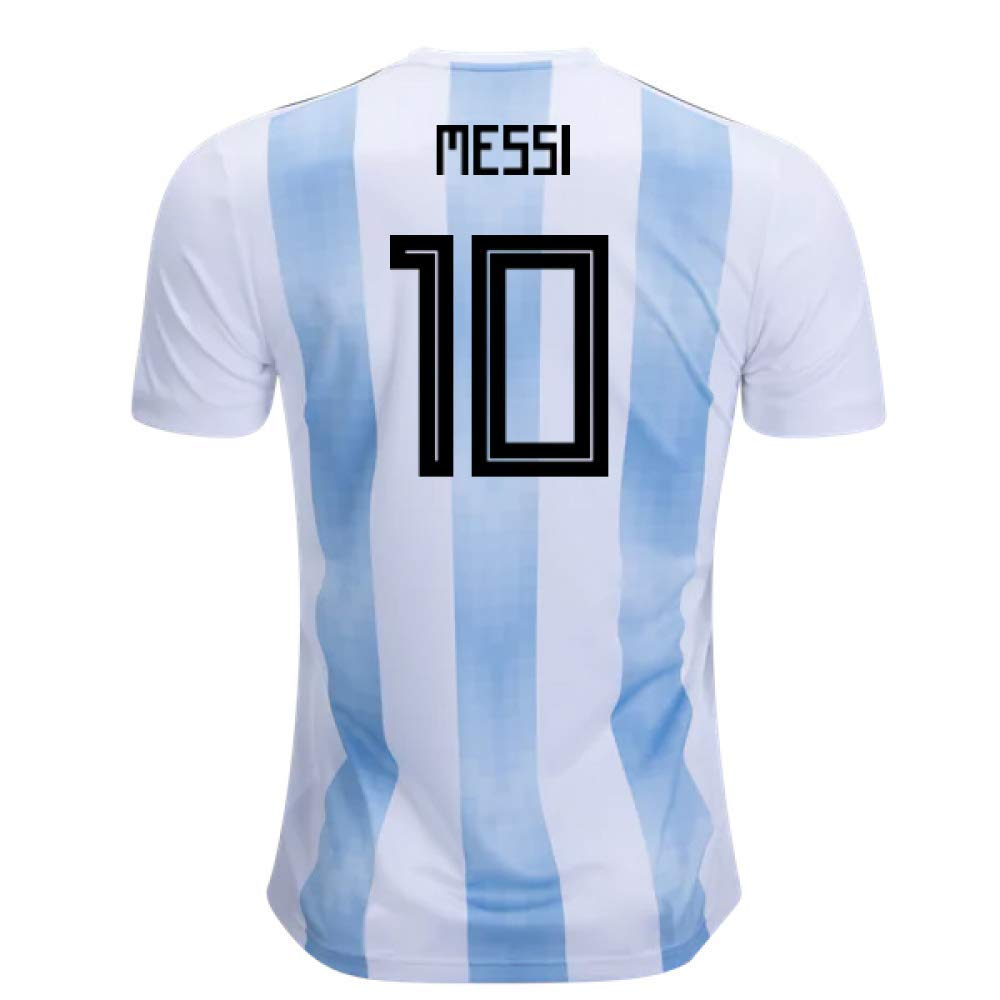2018-19 Argentina Home Football Soccer T-Shirt Trikot (Lionel Messi 10)