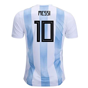 409aaea5ced 2018-19 Argentina Home Football Soccer T-Shirt (Lionel Messi 10 ...