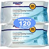 Equate Exfoliating Wet Cleansing Towelettes with Cucumber, Aloe and Green Tea - 120 Wet Towelettes