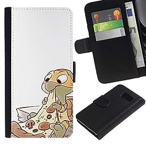 APlus Cases // Samsung Galaxy S6 SM-G920 // Tortugas Ninja Pizza carácter niños'S // Cuero PU Delgado caso Billetera cubierta Shell Armor Funda Case Cover Wallet Credit Card