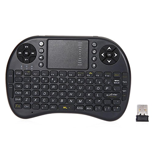 GB-Tech 2.4GHz Wirelesss QWERTY Touchpad Keyboard Mouse with Receiver Black