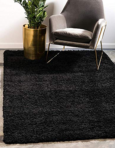 Fantasy Star Solo Solid Shag Collection Modern Plush Sandy Brown Area Rug (8' 0 x 11' 0), Home Decor High Traffic Area Rugs Floor Mats for Living Room