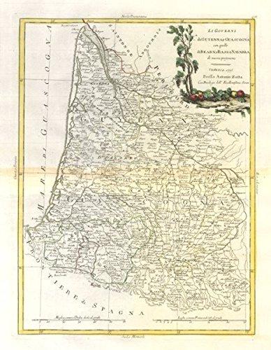 Map Of France Gascony.Amazon Com Li Governi Di Guyenna E Guascogna Guyenne Gascony