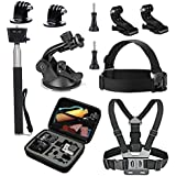 VVHOOY Sport Action Camera Accessories Kit with Carry Case for DBPOWER EX5000 /Lightdow ld4000 ld6000/ AKASO EK5000 EK7000 4K /Cymas 1080P Waterproof Action Camera
