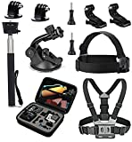VVHOOY Sport Action Camera Accessories Kit with Carry Case for DBPOWER EX5000 /Lightdow ld4000 ld6000/ AKASO EK5000 EK7000 4K /Cymas 1080P Waterproof Action Camera Review