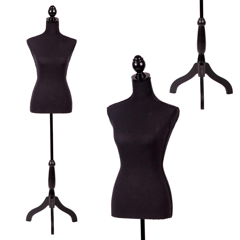Mannequin Dress Form Female Dress Model Torso Display Mannequin Body 60-67 Inch Height Adjustable Tripod Stand by BestMassage