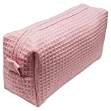 waffle robe with liner - Cotton Waffle Cosmetic Bag, Small, Pink