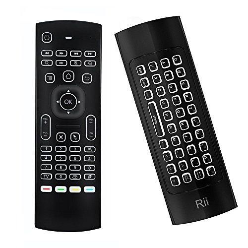Rii Backlit Fly Mouse 2.4G MX3 Pro Multifunctional Wireless Mini Keyboard And Infrared Remote Learning For KODI, Google Android Smart TV/Box, IPTV, HTPC,Mini PC,Windows,MAC OS,Linux OS,PS3, Xbox 360 (Keyboard Ps3 Windows)