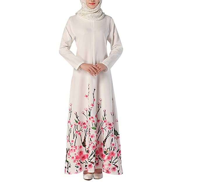 Vestido de Mujer Falda Larga Estampado Floral Túnica Vestidos ...