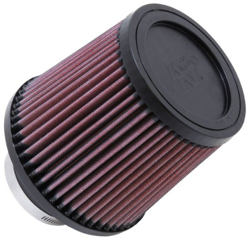 K&N RU-4990 Universal Clamp-On Air Filter: Round Tapered; 3 in (76 mm) Flange ID; 5.563 in (141 mm) Height; 6 in (152 mm) Base; 5 in (127 mm) - Nissan 2012 Altima Base