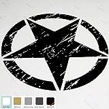 "20"" Jeep Wrangler Freedom Edition Star Hood Decal Sticker (Matte Black)"