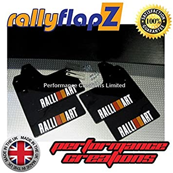 Genuine rallyflapZ Made in the UK Full Set of 4 Mudflaps Including all Fixings//Hardware Required /& Full Fitting Instructions! Mud Guard//Mud Flaps Kit 4mm Flexible PVC Black Logo White