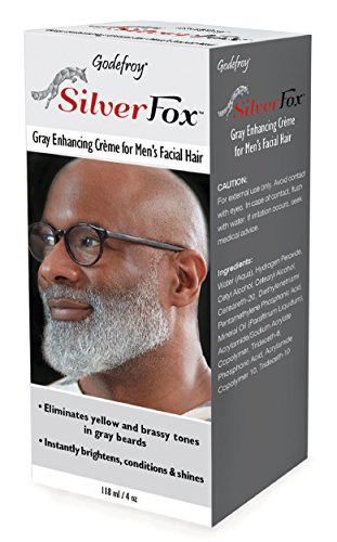 Godefroy Silver Fox Men's Silver And Gray Beard Brightener For Ethnic Hair Types, 3 Fluid Ounce (Best Hair Dye For Ethnic Hair)
