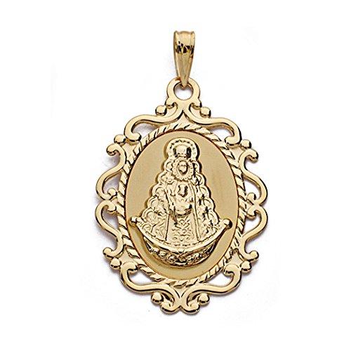 Médaille pendentif 18k Virgen del Rocio 31cm. [AA0216GR] - personnalisable - ENREGISTREMENT inclus dans le prix