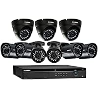 Lorex 16 Channel 4MP Security System with 9 4MP Cameras with 130 Color night vision 6 LNB4321B and 3 LNE4322B
