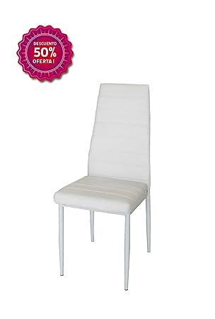 Silla de salón comedor blanca,estructura color blanco.