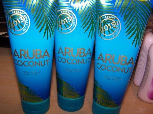 3 Bath & Body Works Escape Collection Aruba Coconut Triple Body Cream 8 Fl Oz (Aruba Cocunut)