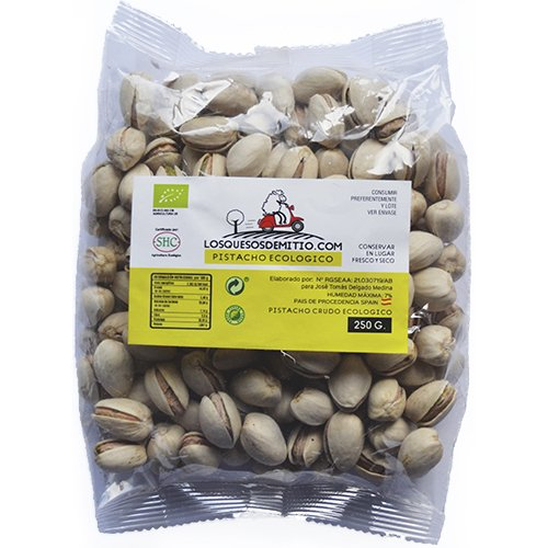 Pistacho Ecológico crudo sin sal añadida, cultivado en España (frutos secos naturales de agricultura ecológica, 750g de pistachos), de Losquesosdemitio: ...