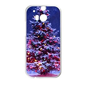 Custom Christmas Tree Pattern HTC One M8 (Laser Technology) 100% Plastic Case Cover by Maris's Diary